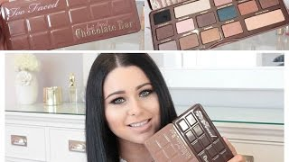 getlinkyoutube.com-NEW Too Faced Semi Sweet Chocolate Bar Review, Swatches & Comparison