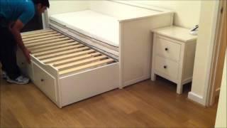 getlinkyoutube.com-IKEA Hemnes Day-bed Trundle Guest Bed, Stolmen Storage Design - Before & After.