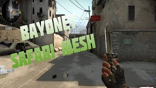 getlinkyoutube.com-CS:GO Skin Showcase - Bayonet   Safari Mesh