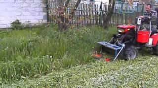 getlinkyoutube.com-мини-трактор из мотоблока Кентавр 1013