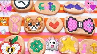 getlinkyoutube.com-Come Fare STAMPI Effetto PIXEL ART ! Con Creazioni in Hama Beads!! Gomma Siliconica Sil Hand!