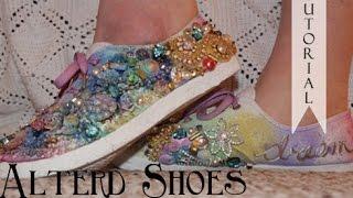getlinkyoutube.com-Finnabair Inspired Altered Shoes