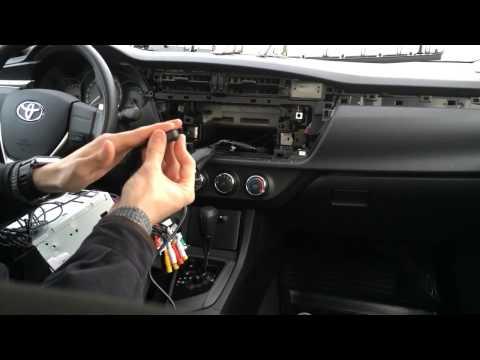 Установка Головного устройства RedPower на примере Toyota Сorolla 2013 г/в