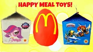 getlinkyoutube.com-McDonald's Happy Meal Play Doh Surprise Egg Littlest Pet Shop & Skylanders Toys!