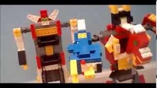 getlinkyoutube.com-Lego Power Rangers Dino Thunder (Dino Stegazord 2/3)