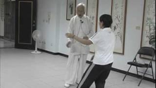 2005年鄭子太極拳鞠鴻賓大師調教退步跨虎至彎弓射虎拳架 -3
