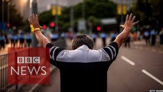 getlinkyoutube.com-Hong Kong protests: On the frontline - BBC News