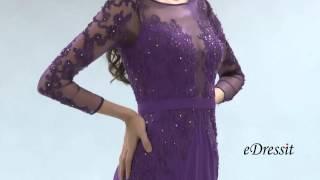 getlinkyoutube.com-robe de soirée manches longues