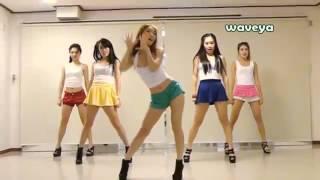 getlinkyoutube.com-Waveya Korean Dance Азиатки танцуют под Gangnam Style