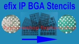 Fix iPhone iPad damaged insulation layer for NAND chip logic board with efix IP BGA Stencils