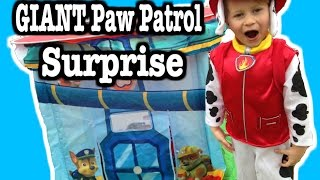 getlinkyoutube.com-GIANT Paw Patrol SURPRISE Tent, BIGGEST Paw Patrol Surprise Toy Video by EpicToyChannel