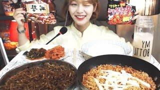 짜왕2봉,불닭볶음면2봉 :슈기의먹방 [Shoogi's Eating Show] mukbang