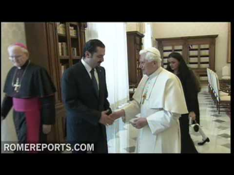 Pope receives Lebanons prime minister at the Vatican