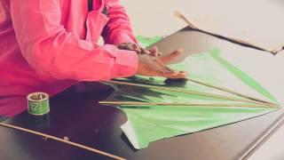 getlinkyoutube.com-Kites: Making of Fancy Kite