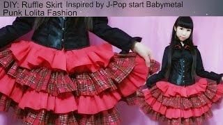getlinkyoutube.com-DIY:Sew a ruffle skirt-inspired by Jpop star babymetal-punk lolita fashion