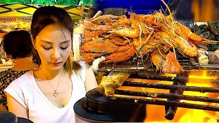 getlinkyoutube.com-Street Foods compilation - Drink , Seafoods, Noodle, Steak Barbecue, Éclair, Fish cake