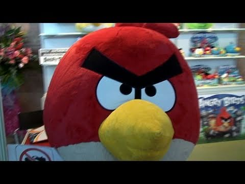 Angry Birds Toys from the iPhone App Angry Birds Plush Toys Review Hong Kong Toy Fair 2011
