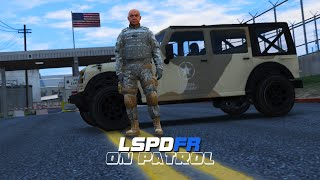 getlinkyoutube.com-LSPDFR - Day 23 - Military Police Patrol