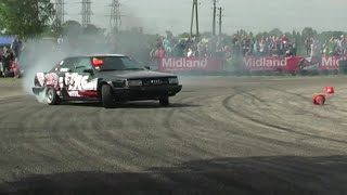 getlinkyoutube.com-Kaross chip Audi 100 RWD drift season video by Mareks Ivans