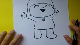 getlinkyoutube.com-Como dibujar a Pocoyo paso a paso - Pocoyo | How to draw Pocoyo - Pocoyo