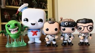 getlinkyoutube.com-Ghostbusters Funko Pop review: Peter Venkman, Ray Stanz, Egon Spengler, Slimer and Stay Puft
