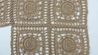 getlinkyoutube.com-Crochet: Cuadrado # 19
