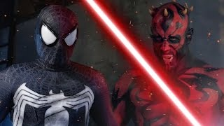 getlinkyoutube.com-SPIDER-MAN vs DARTH MAUL - ALTERNATE ENDING - Super Power Beat Down