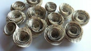 getlinkyoutube.com-Rolled Book Paper Roses ~ Tutorial ~