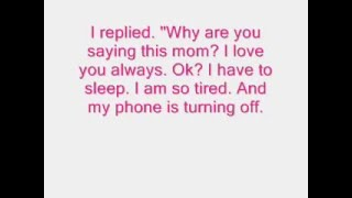 story of mom and daughter (touching)