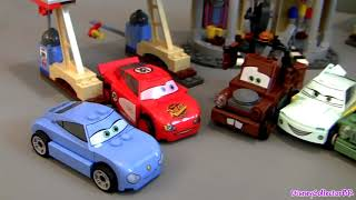 getlinkyoutube.com-LEGO Cars Flo's V8 Cafe Buildable Toys 8487 Cars 2 Disney Pixar Flo Sally Mater Fillmore Mcqueen