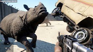 getlinkyoutube.com-Far Cry 4 Massive Scale Battles Rhinos VS Soldiers