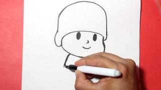 getlinkyoutube.com-Como dibujar a pocoyo - how to draw pocoyo