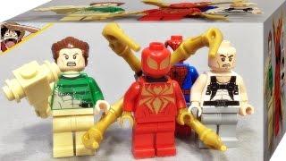 getlinkyoutube.com-레고 아이언 스파이더,샌드맨,라이노,스파이더맨 76037 미니피규어 소개 Lego marvel super heroes mini figures