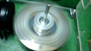 My First Bedini Motor 500 Turns Coil & Neodymium Magnets