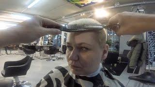 getlinkyoutube.com-Nathalie (Impression Of A Haircut) Nathalie's haarschnitt