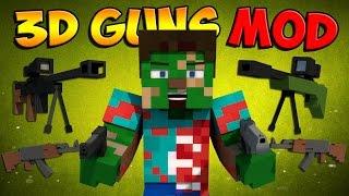 getlinkyoutube.com-Minecraft Mods - 3D GUNS MOD - Guns in Minecraft?! [RPG 's, AK47 's, & More] Minecraft Mod Showcase
