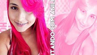 getlinkyoutube.com-Pintando o Cabelo com Anilina Azul e Rosa