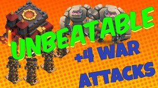 getlinkyoutube.com-Worlds Best Th10 War Base With 4 War Attacks Replays 2016 100% Anti 2 Star