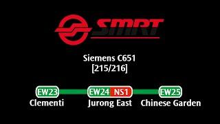 getlinkyoutube.com-SMRT C651 [215/216]: Clementi → Chinese Garden (» Joo Koon)