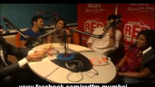 getlinkyoutube.com-Cast of Student Of The Year at Red FM Studios Mumbai.mpg