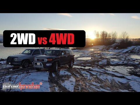 2WD vs 4WD (Two Wheel Drive Eaton G80 Locker vs 4 Wheel Drive Open Diff) | AnthonyJ350