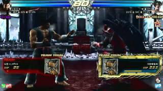 Tekken Strike Finals JDCR (Heihachi/A. King) vs Knee (Devil Jin/Marduk)