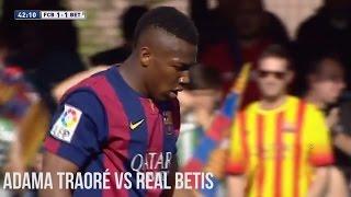 Adama Traoré vs. Real Betis   Individual Highlights   Barcelona B