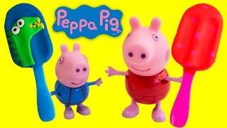 getlinkyoutube.com-Peppa Pig Play Doh Popsicles Peppa Pig Ice Creams Play Dough Ice  Cream Peppa Pig Toys and Videos