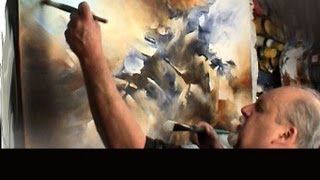 getlinkyoutube.com-painting 'the Edge' Modern contemporary abstract art Mix Lang How to DEMO