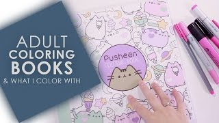 getlinkyoutube.com-Adult Coloring Books & What I Use to Color