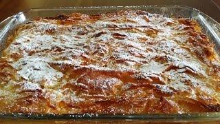 getlinkyoutube.com-μπουγάτσα γλυκιά συνταγή εύκολη γρήγορη ελληνική, γλυκιά - επιδόρπιο greek bougatsa recipe easy