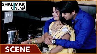 Omlet Movie || Siraj & Lavanya Love Scene at kitchen|| Shalu, Siraj, Lavanya || Shalimarcinema width=