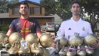 getlinkyoutube.com-Cristiano Ronaldo vs. Messi - Trophy Battle | In Real Life!