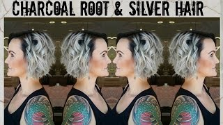 getlinkyoutube.com-Charcoal Roots & Silver Hair Color Tutorial